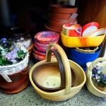 Keramické košíky, misky