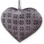 Závěsný košík - srdce