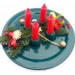 Adventní svícen, keramický talíř 1