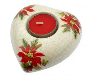 Vánoční svícen, keramický 7
