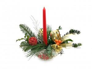 Vánoční svícen, keramický 6
