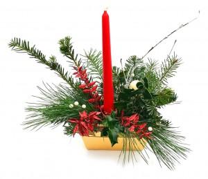 Vánoční svícen, keramický 1