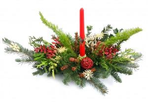 Vánoční svícen, interiér