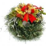 Vánoční věnec závěsný, umělá borovice