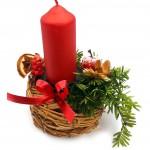 Vánoční svícen, proutěný 4