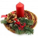 Vánoční svícen, proutěný 3