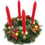 Adventní svícen, přírodní, dánská jedle 1 - kopie