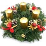 Adventní svícen, přírodní, dánská jedle 1