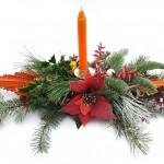 Vánoční venkovní svícen, přírodní 3