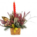 Vánoční venkovní svícen, vřesový 1